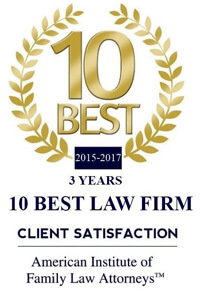 American Institute of Family Law Attorney's Award: Top 10 Best Law Firms in Client Satisfaction